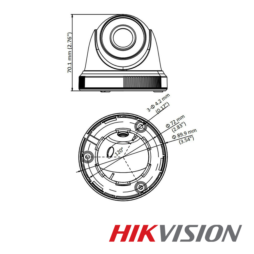 DS-2CE56D0T-IF Camara Domo Turbo Full HD 1080p Interior Hikvision